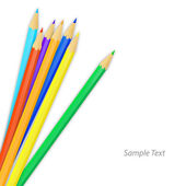 Colored pencils. Vector illustration — Vettoriale Stock