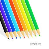 Colored pencils. Vector illustration — Vector de stock