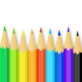 Colored pencils. Vector illustration — Stock Vector