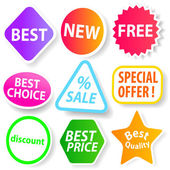 Selling Badges — Stock Vector