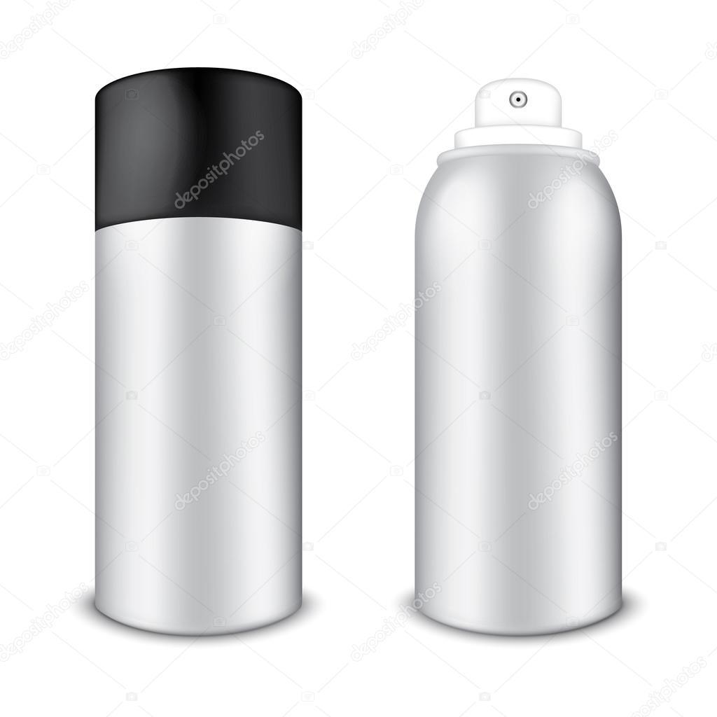 空白铝喷雾罐 — 矢量图片作者 sergt