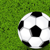 Soccer Ball On Green Grass Field — Stock vektor