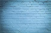 Blå tegel vägg bakgrund — Stockfoto