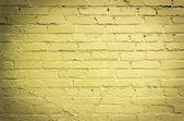 żółte cegły ściany tło — Zdjęcie stockowe