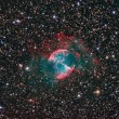 Stock Photo: M27 Dumbbell Nebula