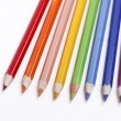 Royalty-Free Stock Photo: Color pencils on a white background