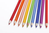 Color pencils on a white background — Stock Photo