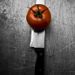 Knife tomato — Stock Photo