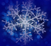 Snowflake on a blue background — Stock Photo