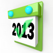 New Year Date Day on Calendar Holiday Schedule — Stock Photo #25624851