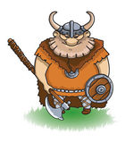 Viking with a Sword — Stock Vector