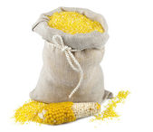 Sack of maize flour — Stock Photo