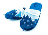 Chinelos macios azuis — Foto Stock