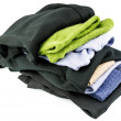 Stack of woolen clothes — Stock Photo
