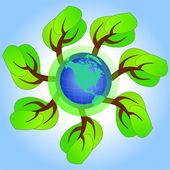 Concetto ecologico — Vettoriale Stock