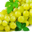 Part of bunch of grapes with green leaf — Stock Photo