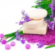 Spring concept with soap and snowdrops — Stock Photo #23897665