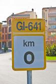 KM 0 Traffic signal — Stock Photo