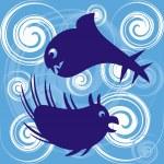 Sea monsters — Stock Vector