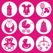 Baby icons — Stock Vector #15514409