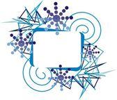 Blue frame — Stock Vector