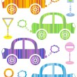 Colorful cars — Stock Vector