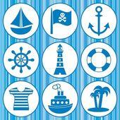 Pirates icons — Stock Vector