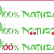 100 per natural — Stock Vector