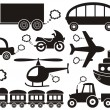 Transport icons - Stok Vektör