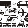 Transport icons - Image vectorielle