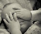 Bebê triste — Foto Stock
