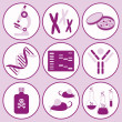 Biology science icons - Stock Vector