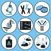 Biology science icons — Stock Vector