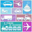 Transport icons - Vettoriali Stock