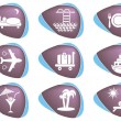 Travelling and accommodation icons — Stock Vector