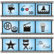 Royalty-Free Stock Vector Image: Movie icons