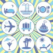 Travelling and accommodation icons - Stock Vector
