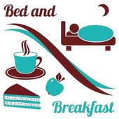 Bed and breakfast — Stock Vector