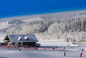 лыжный склон — Стоковое фото