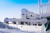滑雪拖车 — 图库照片