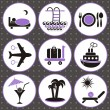 Traveling and accommodation icons — Stock Vector #21417485