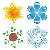 Symbols of four elements — Stock Vector