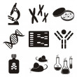 Постер, плакат: Biology science icons