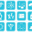 Vettoriale Stock : Biology science icons