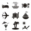 Traveling and accommodation icons — Stock Vector