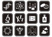 ícones de ciência biologia — Vetor de Stock