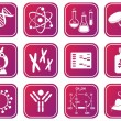 Biology science icons — Imagen vectorial