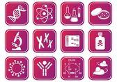 ícones de ciência biologia — Vetorial Stock