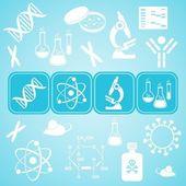 Cartão de ciência biologia molecular — Vetor de Stock