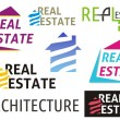 Real estate symbols — Stock Vector